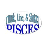 Pisces 20x12 Oval Wall Decal