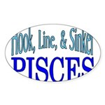 Pisces Sticker (Oval 10 pk)