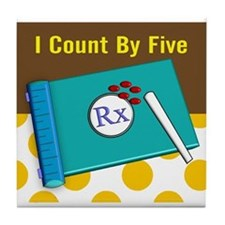 pharmacist I count by 5 1 Tile Coaster
