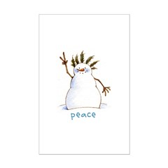 Snowman for Peace Posters