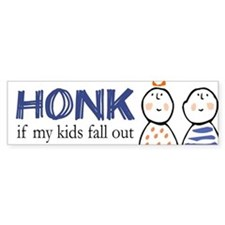 Honk if Kids Fall Out Bumper Bumper Sticker