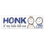 Honk if Kids Fall Out Bumper Sticker