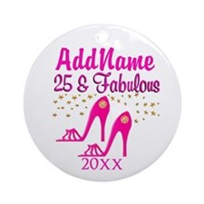 25TH PARTY Ornament (Round)