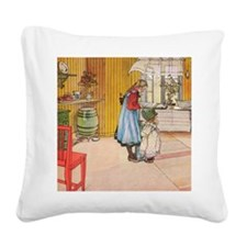 Churning Butter (square) Square Canvas Pillow