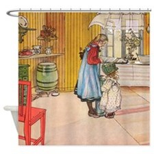 Churning Butter (square) Shower Curtain