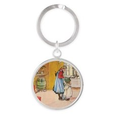 Churning Butter (square) Keychains