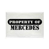 Property of Mercedes Rectangle Magnet