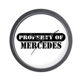 Property of Mercedes Wall Clock