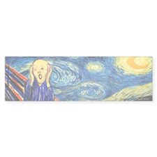 Munch Meets Van Gogh Bumper Bumper Sticker