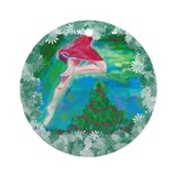 Flying holiday dancer Ornament (Round)