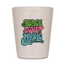 Peace-Love-Music Shot Glass
