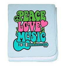 Peace-Love-Music baby blanket