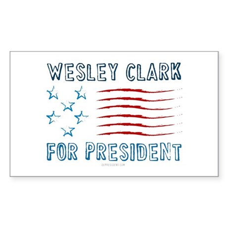 Wesley Clark for President Rectangle Sticker