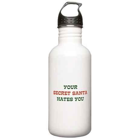 Your Secret Santa Hates You Stainless Water Bottle