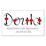 Doula Rectangle Sticker