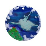 holiday grand jete Ornament (Round)