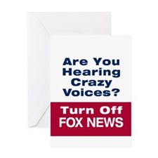 Turn Off Fox News Greeting Card