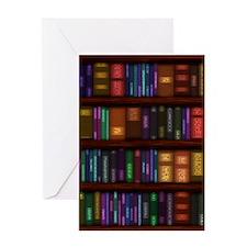 Old Bookshelves Greeting Card