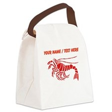 Personalized Red Lobster Design Canvas Lunch Bag
