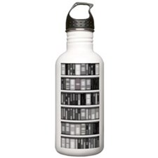 Modern Bookshelf Water Bottle