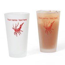 Personalized Red Shrimp Drinking Glass