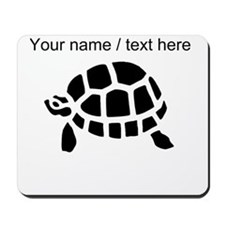 Personalized Black Turtle Mousepad