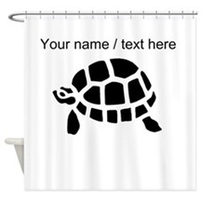 Personalized Black Turtle Shower Curtain