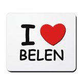 I love Belen Mousepad