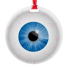 Bloodshot Blue Eyeball Ornament