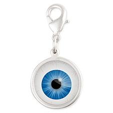 Bloodshot Blue Eyeball Charms