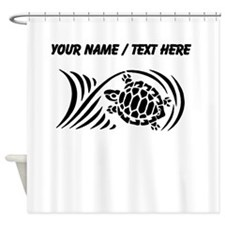 Personalized Black Sea Turtle Design Shower Curtai