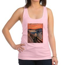 scream shirt Racerback Tank Top