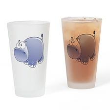 Happy Hippo Drinking Glass