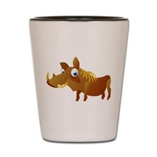 Cartoon Warthog Shot Glass