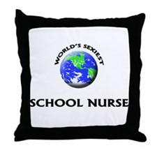 World's Sexiest School Nurse Throw Pillow