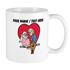Personalized Old Couple In Love Mug