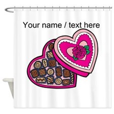 Personalized Chocolates In Heart Box Shower Curtai