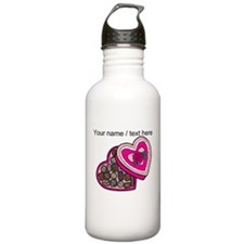 Personalized Chocolates In Heart Box Water Bottle