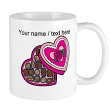 Personalized Chocolates In Heart Box Mug