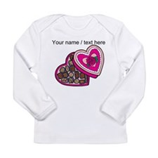 Personalized Chocolates In Heart Box Long Sleeve T