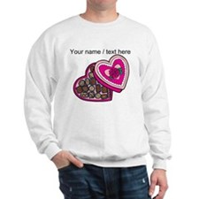 Personalized Chocolates In Heart Box Sweatshirt