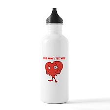 Personalized Cartoon Red Heart Water Bottle