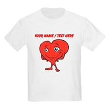 Personalized Cartoon Red Heart T-Shirt