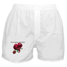 Personalized Love Heart With Rose Boxer Shorts