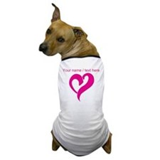 Personalized Pink Heart Dog T-Shirt