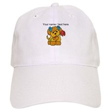 Personalized Cute Puppy With Flower Baseball Baseball Cap