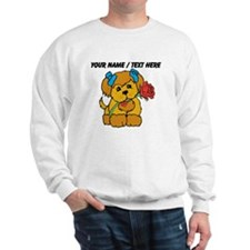Personalized Cute Puppy With Flower Sweatshirt