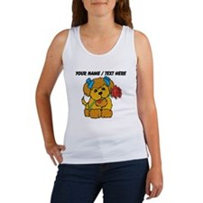 Personalized Cute Puppy With Flower Tank Top