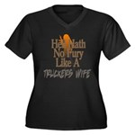 Hell Hath No Women's Plus Size V-Neck Dark T-Shirt