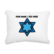 Personalized Blue Star Of David Rectangular Canvas